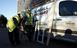 Philip Pledge with apprentice Ronan Peary