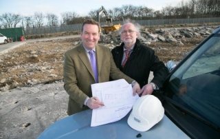 PLANS: Graeme Newton, left, with David StubbsPicture: Keith Taylor